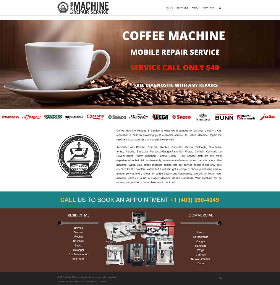 Coffee Machine Repair Calgary